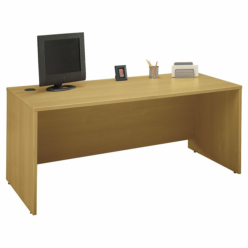 Bush Series C 72Inch Desk Shell in Light Oak  eBay