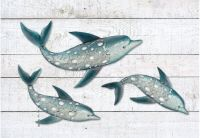 Dolphin Fish Wall Art Metal Coastal Nautical Beach Indoor
