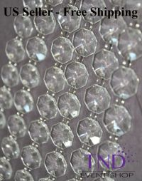 ACRYLIC CRYSTAL GARLAND STRAND CHAIN HANGING DIAMOND BEAD ...
