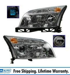 details about headlights headlamps left right pair set new for 06 09 mercury milan [ 1000 x 1000 Pixel ]