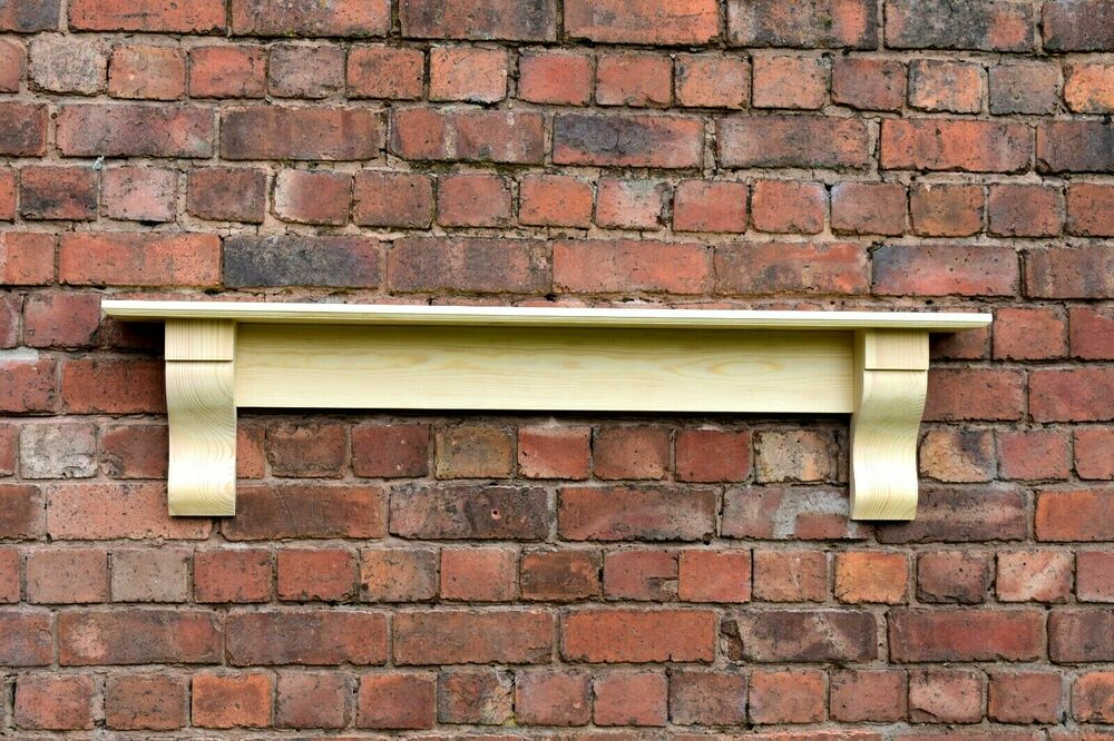 Solid Pine Mantle Pine Shelf With Corbels Plus Made Measure Free Delivery EBay