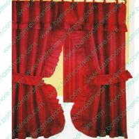 Double Swag Fabric Shower Curtain/12 Matching Hooks 2 Tie ...