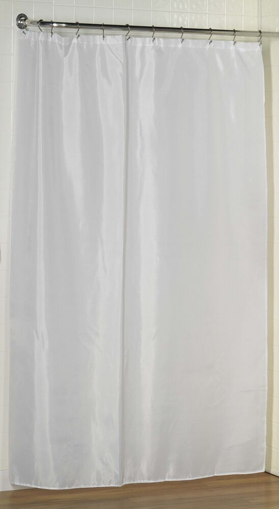 Extra Long Fabric Shower Curtain LinerWater repellent
