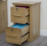 Arden solid oak two drawer filing cabinet office computer
