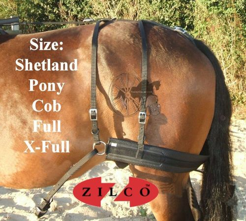 small resolution of carriage driving harness breeching set zilco tedex shetland pony cob full ebay