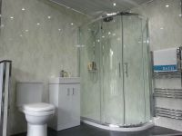 5 New White Marble Wall Panels PVC Bathroom Cladding Grey ...