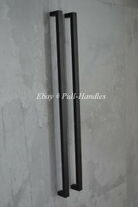 Long Pulls Handles Entry Door Square Matte Black Entrance ...