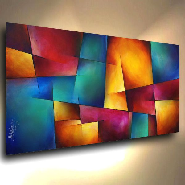 Modern Abstract Art Contemporary Giclee Canvas Print Of Michael Lang Painting