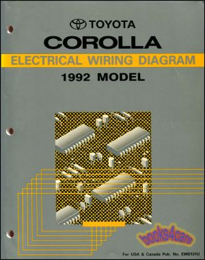 SHOP MANUAL SERVICE REPAIR COROLLA ELECTRICAL WIRING DIAGRAM TOYOTA SCHEMATIC | eBay