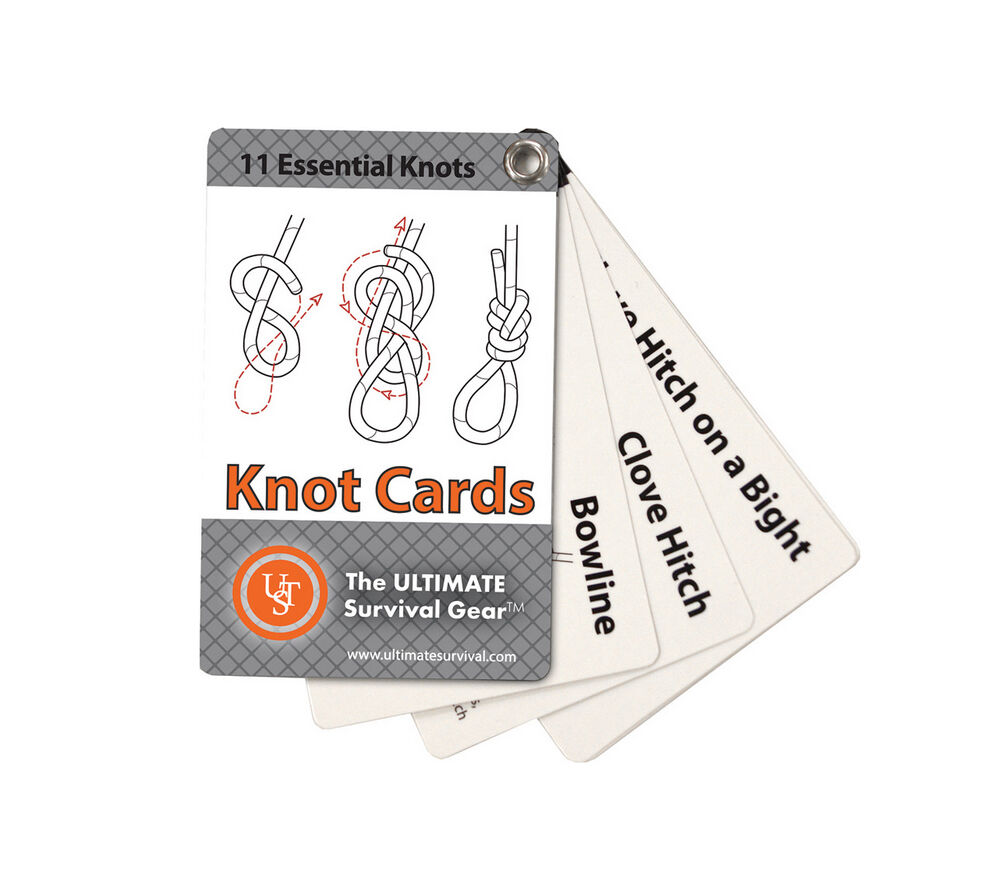 UST Knot Cards Pocket How-to Guide for Survival Kit