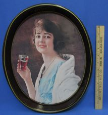 Vintage Woman Coca Cola Trays - Year of Clean Water