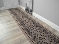 Light Brown Heavy Duty Non-Slip Rubber Backed Hall Runners ...
