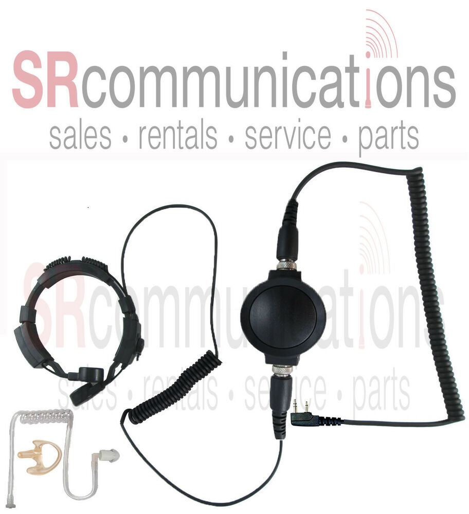 Throat Mic Earpiece Earmold Kenwood ProTalk TK2100 NX220