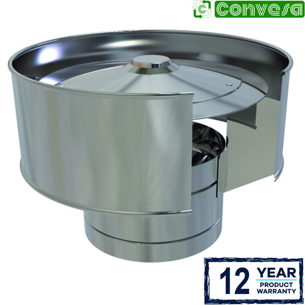6 inch Anti Wind Cowl For Stainless Steel KC Twin Wall