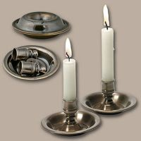 Traveling Candlesticks, Antique Bronze Candle holder ...