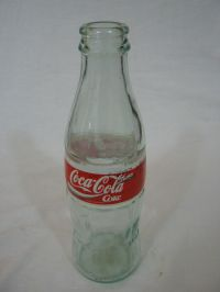 Empty Glass Coke Bottle
