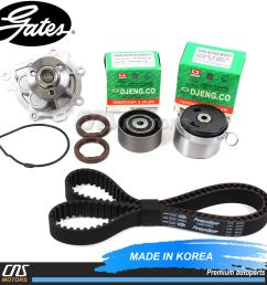 details about timing belt kit water pump genuine tensioner 09 14 chevy aveo aveo5 sonic cruze [ 1000 x 1000 Pixel ]