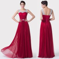 Lady New Red Formal Long Evening Ball Gown Party Prom ...
