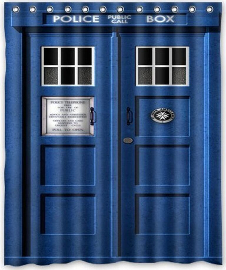 Doctor Who Waterproof Polyester Shower Bathroom Curtain 60x72 Home Decoration  eBay