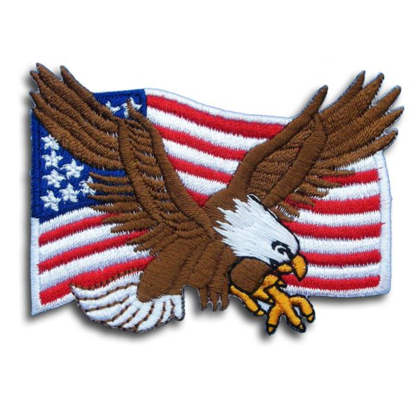 Eagle with American Flag Patch