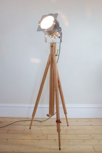 Classic Theatre Spot Light with Solid Wooden Tripod ...