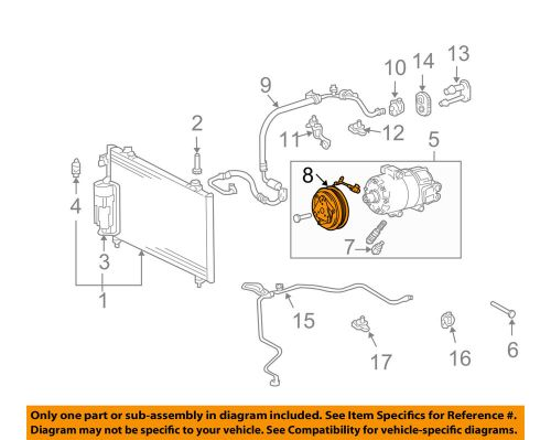 small resolution of details about pontiac gm oem 03 08 vibe compressor clutch 88972204