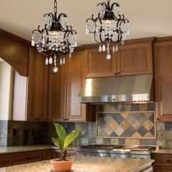 Wrought Iron Pendant Lights Kitchen Small Island With Stools Crystal Chandelier Lighting ...