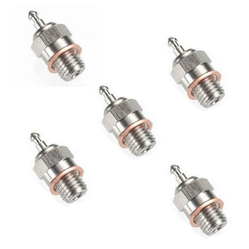 5x HSP Spark Glow Plug No.4 N4 Hot 70117 for RC Nitro