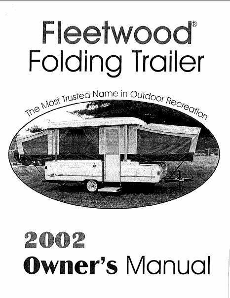 COLEMAN Popup Trailer Owner Manual 2002 Destiny Taos