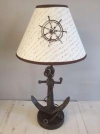 New Rustic Look ANCHOR TABLE LAMP Nautical Theme Desk ...