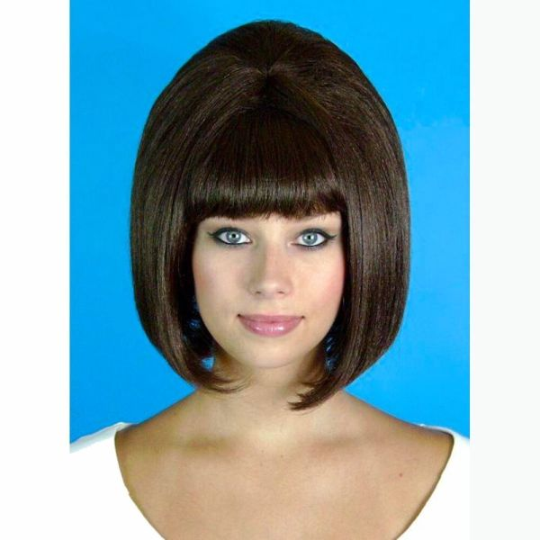 60' Beehive Hairspray Brown Wig Women' Fancy Dress