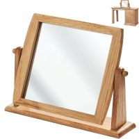 WOODEN DRESSING TABLE MIRROR BATHROOM SHAVING MAKEUP WOOD