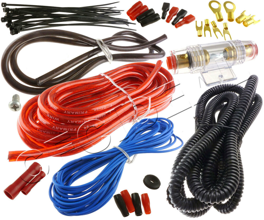 8 Gauge Amp Wire Only Kit Amplifier Install Wiring 8 Ga