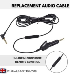 headphone mic wiring diagram replacement cable for bose headphones qc 15 qc15 volume [ 1000 x 1000 Pixel ]