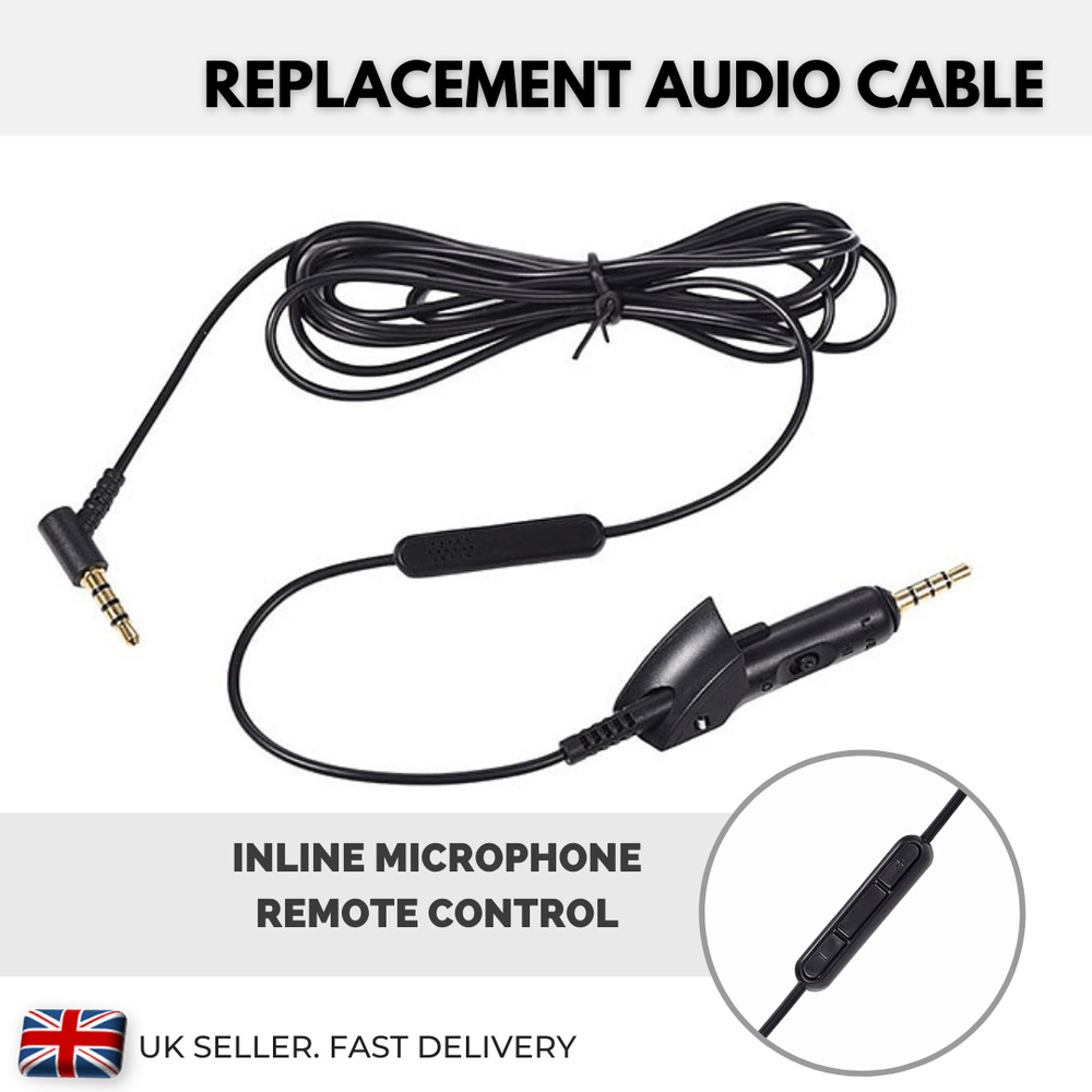medium resolution of  headphone mic wiring diagram replacement cable for bose headphones qc 15 qc15 volume