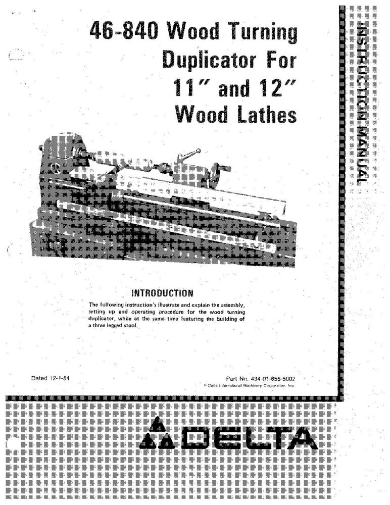 Delta 46-840 Wood Turning Duplicator for 11 & 12 Wood