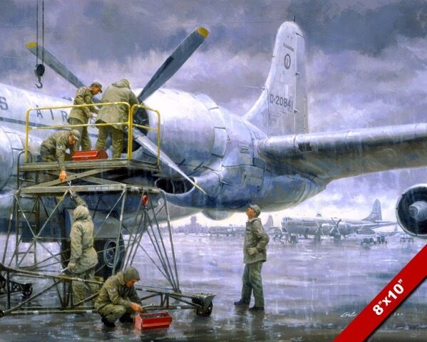 USAF MECHANICS ON KC97L TANKER PAINTING US AIR FORCE HISTORY ART CANVAS PRINT  eBay