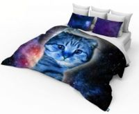 3D Double Size Galaxy Cat Photo Print Design Duvet cover ...