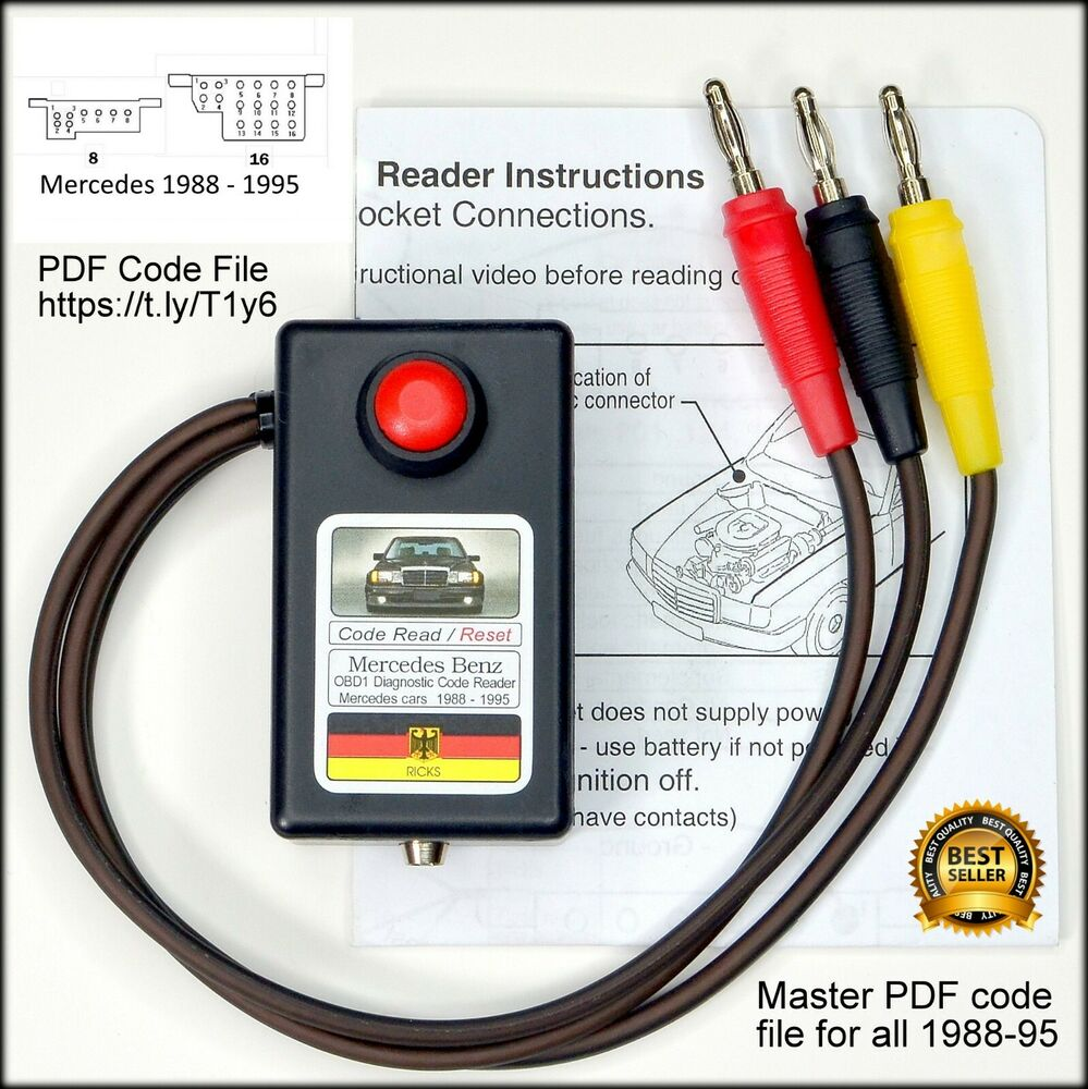 w124 e320 wiring diagram 2 circle venn maker mercedes obd1 diagnostic code reader tool 201 300e 190e 300te 300ce | ebay