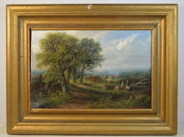 antique english signed original