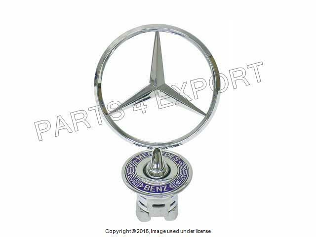 NEW GENUINE M-BENZ Front Hood Chrome Star Emblem Badge