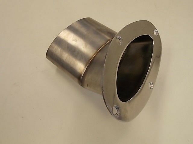 STAINLESS STEEL OVAL SHAPED ANGLED 30 EXHAUST TIP PORT