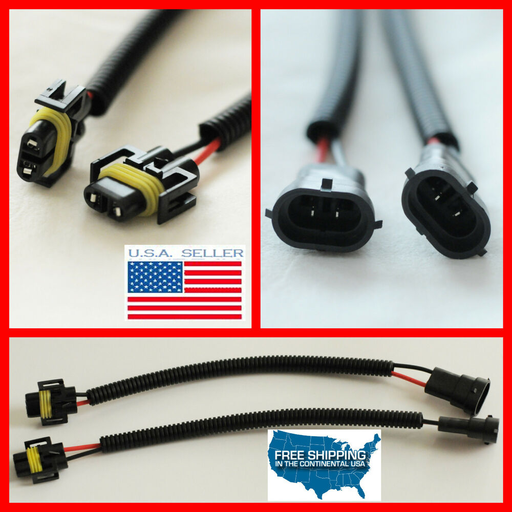 medium resolution of h11 h9 h8 wiring harness socket wire connector plug extension cables hid led bmw ebay