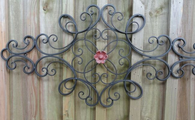 Cottage Chic Iron Metal Wall Decor Wall Art Shabby And