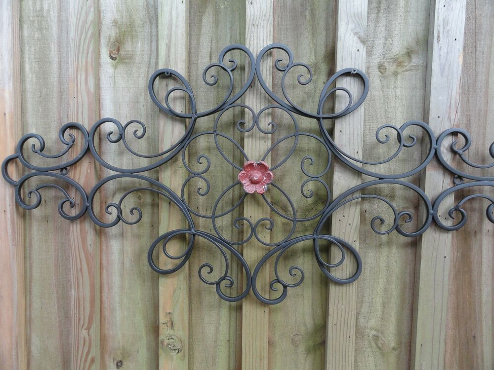 Cottage Chic, Iron Metal Wall Decor, Wall Art, Shabby And