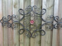Cottage Chic, Iron Metal Wall Decor, wall art, Shabby and ...