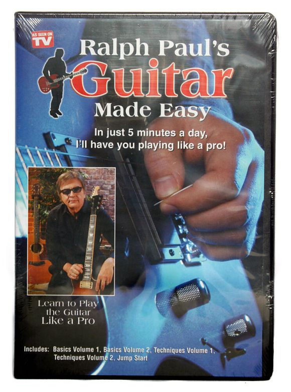 Ralph Paul's Pauls Guitar Made Easy 5 DVD Set Learn to ...