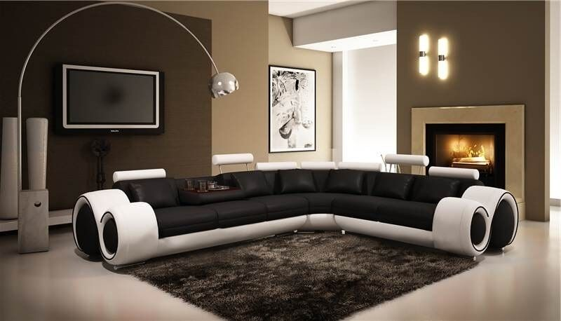 ebay sofas for sale leather coastal living nova black and white bonded corner sofa right hand ...