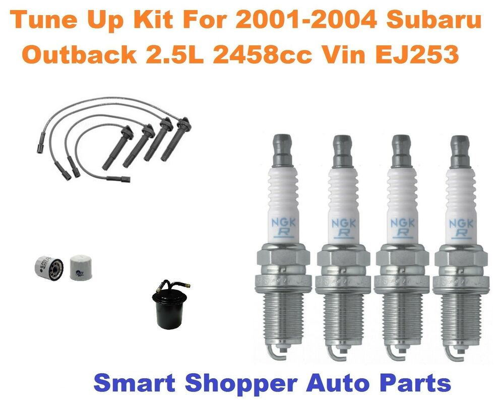hight resolution of details about tune up for 2001 2002 2004 subaru outback spark plug wire set oil fuel filter