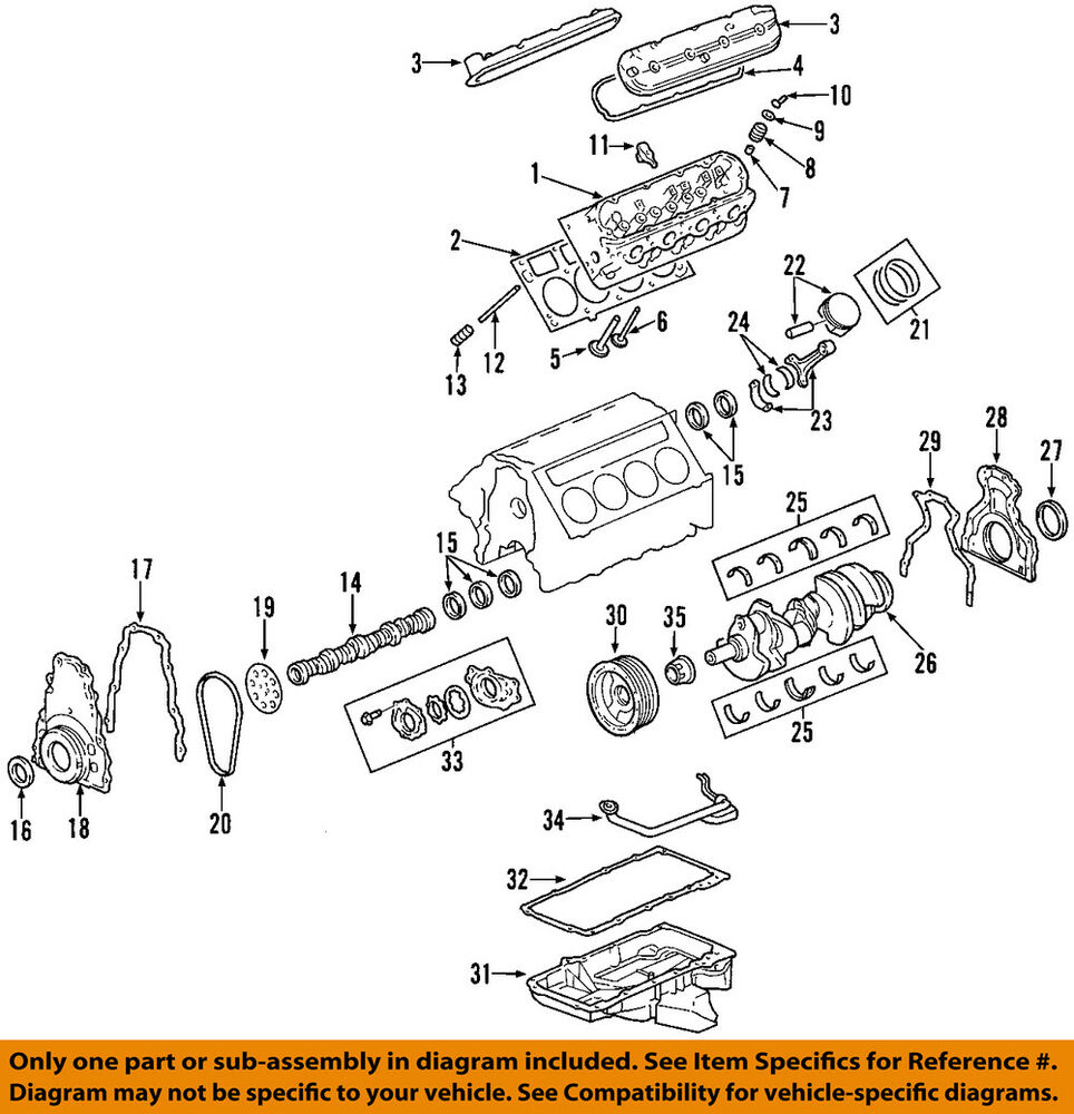 Malibu Engine And Cylinder Head Parts Diagram Car Parts Diagram